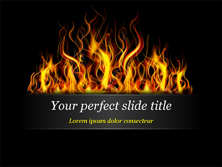 Flame Presentation Template, Master Slide