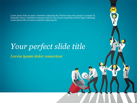 Teamwork Concept with Human Pyramid Presentation Template, Master Slide