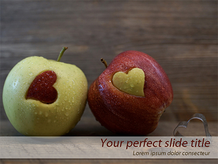 Apples with Hearts Presentation Template, Master Slide