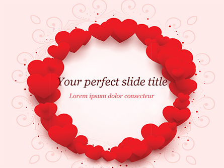 Circle of Hearts Presentation Template, Master Slide
