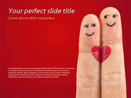 Fingers in Love Presentation Template, Master Slide
