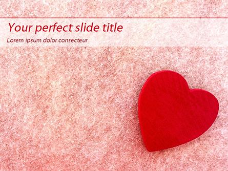 Heart on Pink Background Presentation Template, Master Slide