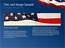 USA Flag on Blue Background slide 14
