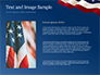 USA Flag on Blue Background slide 15