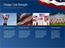 USA Flag on Blue Background slide 16