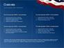 USA Flag on Blue Background slide 2