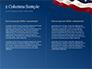 USA Flag on Blue Background slide 5