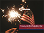Hand with Sparkler and USA Flagpole slide 1