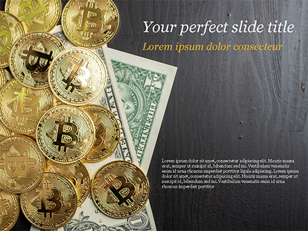 Bitcoins and Dollars Presentation Template, Master Slide