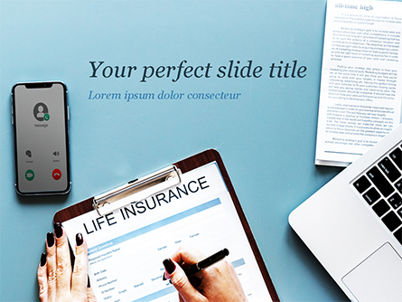Life Insurance Presentation Template, Master Slide