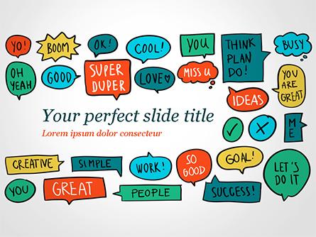 Comics Speech Bubbles Presentation Template, Master Slide