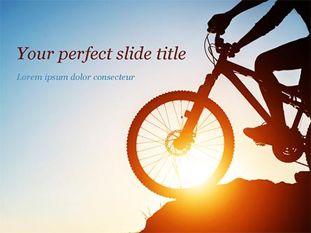 Morning Cycling Presentation Template, Master Slide