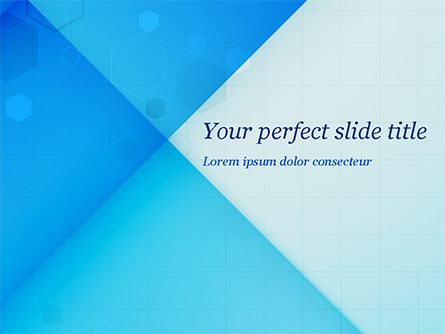Abstraction with Blue Triangles and Squares Presentation Template, Master Slide