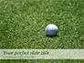 Golf Ball on Grass slide 1