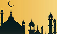 Silhouette Of Mosque Presentation Template