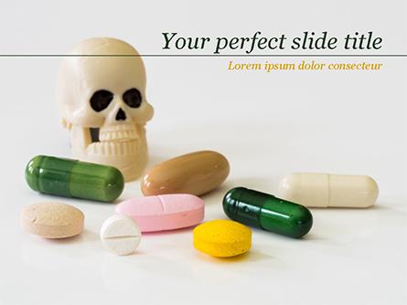 Pills and Skull Presentation Template, Master Slide