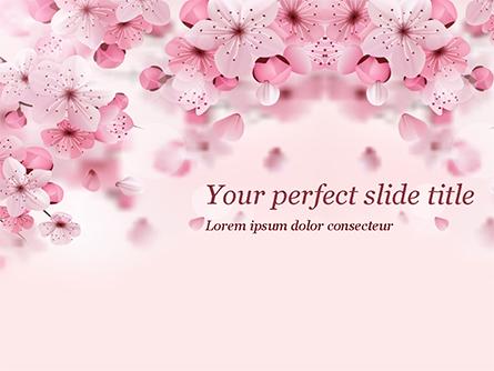 Delicate Sakura Flowers Presentation Template, Master Slide