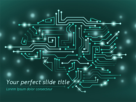 AI Brain Presentation Template, Master Slide