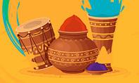 Holi Festival Accessories Presentation Template