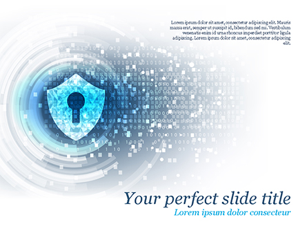 Big Data Security Presentation Template, Master Slide