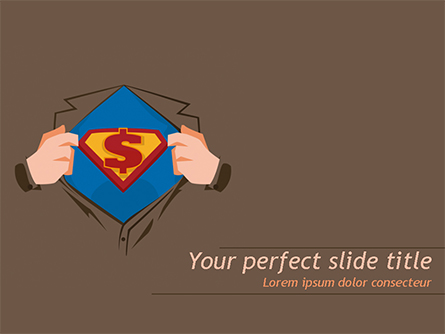 Superman Symbol on Chest Presentation Template, Master Slide