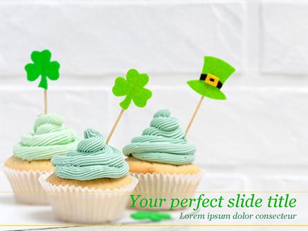 St. Patrick's Day Desserts Presentation Template, Master Slide