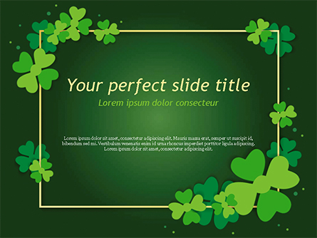 Frame with Irish Theme Presentation Template, Master Slide