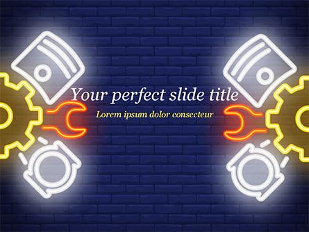 Car Service Sign Presentation Template, Master Slide