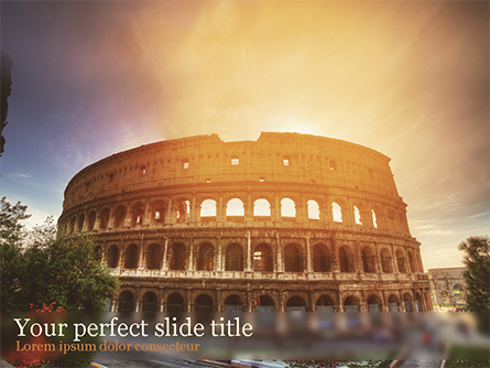 The Ancient Roman Colosseum Presentation Template, Master Slide