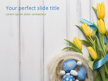 Nice Easter Background Presentation Template, Master Slide