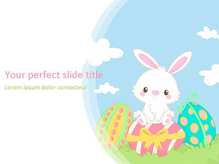 Adorable Easter Bunny Presentation Template, Master Slide