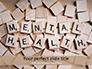 Mental Health Wooden Cubes slide 1