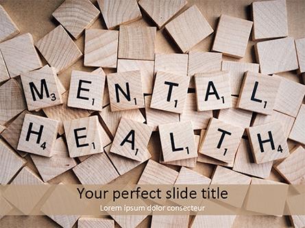 Mental Health Wooden Cubes Presentation Template, Master Slide