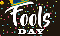 Fools Day Background with Jester's Hat Presentation Template