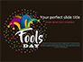 Fools Day Background with Jester's Hat slide 1