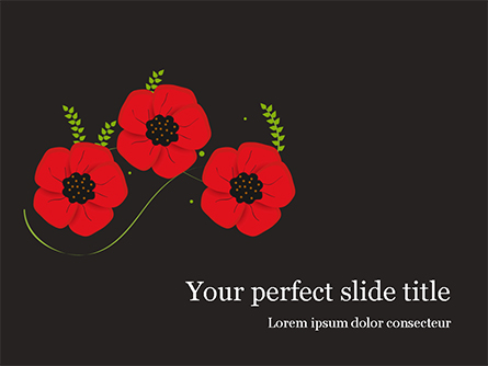 Anzac Day Presentation Template, Master Slide