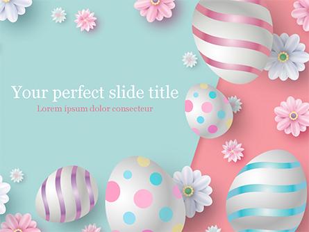 3D Easter Background Presentation Template, Master Slide