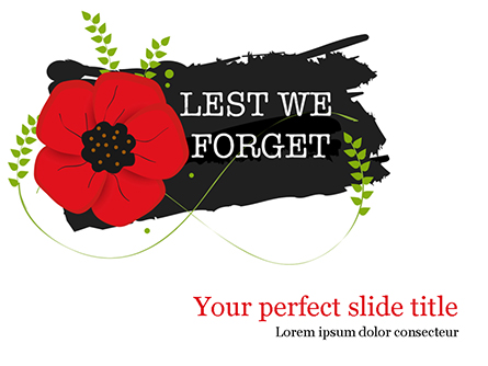 Anzac Day Background Presentation Template, Master Slide