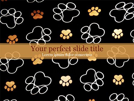 Paw Prints Presentation Template, Master Slide