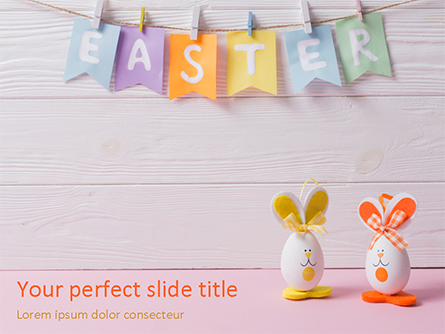 Funny Easter Eggs Presentation Template, Master Slide