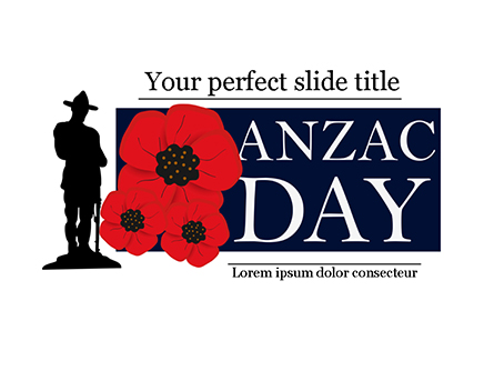 Background for Anzac Day Presentation Template, Master Slide