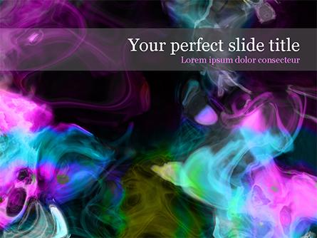 Colored Smoke Presentation Template, Master Slide