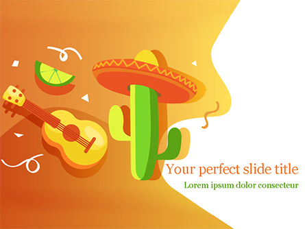 Mexican Fiesta Presentation Template, Master Slide