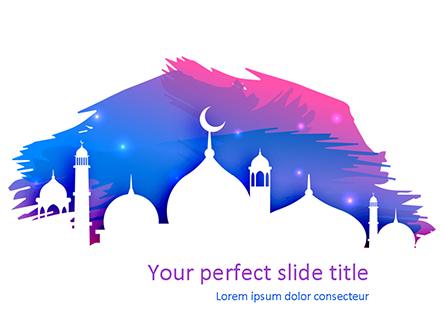 Ramadan Kareem Greeting Presentation Template, Master Slide