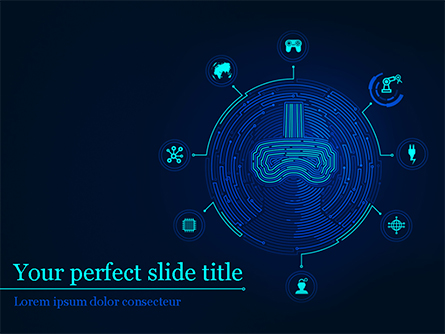 Virtual Reality Concept Presentation Template, Master Slide