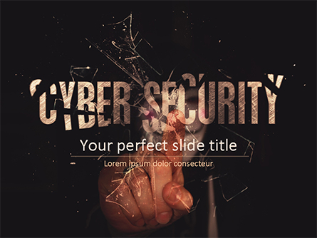 Cyber Security Hacker Presentation Template, Master Slide