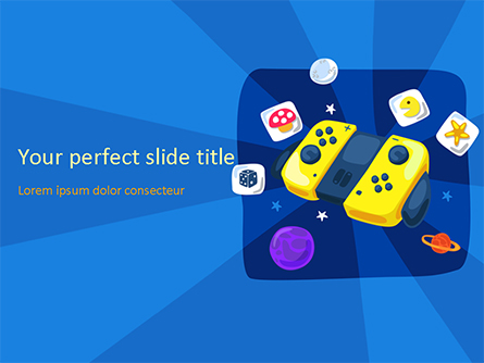 Gamepad Illustration Presentation Template, Master Slide