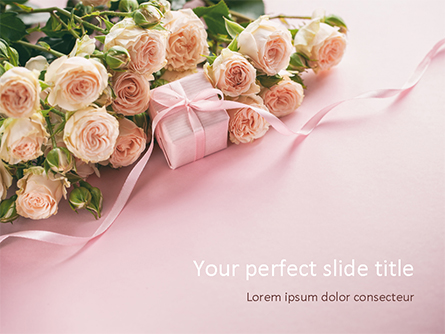 Romantic Gift Presentation Template, Master Slide