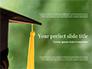 University Graduate Wears Black Cap with Yellow Tassel slide 1