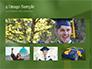 University Graduate Wears Black Cap with Yellow Tassel slide 13